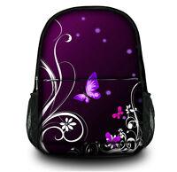 Purple Ladies Girls Canvas Backpack Rucksack School bags College Shoulder Bag