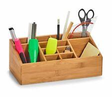 Multifunktion Schreibtisch Ablage Organizer Stiftehalter Holz Box Handyhalter