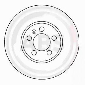 Front Set 2x Brake Discs A.B.S. 16265 for VW Golf/Vento/Passat (91-97)