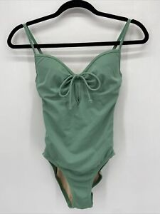 Victoria's Secret Green Keyhole Open Back Padded One Piece Swimsuit XS
