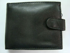 Gents Soft Leather Wallet With Large Zipped Coin Pocket,Button Closer