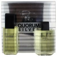 Quorum Silver by Antonio Puig for Men SET: EDT Spray 3.4oz+ASB 3.4oz NEW