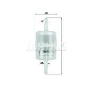 MAHLE KL 1022 - Kraftstofffilter