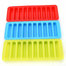 Set of 3 Ice Cube Tray Silicone Narrow Stick Easy Quick Pop Out for Sport Bottle