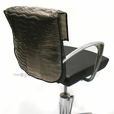 "HAIR TOOLS 22"" Semi Opaque Waved Slip On Salon Back Chair Cover Protector"