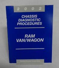 2002 CHASSIS DIAGNOSTIC PROCEDURES RAM VAN/WAGON OEM MANUAL 6E B2