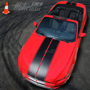 2015 2016 2017 Ford Mustang Convertible Rally Over the Top Racing Stripes Decals
