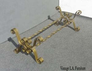 Vintage Spanish Style Gold Scrolled Coffee Table No Glass