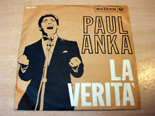 "Paul Anka/La Verita/1965 7"" Single/Italian Issue"