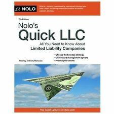 Nolo's Quick LLC: All You Need to Know About Limited Liability Companies (Quick