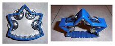 Tamburello a stella blu, cembalo, 4 paia di piattini in metallo, cm 12x12