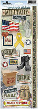 Paper House MILITARY FAMILY Cardstock Stickers scrapbooking MOVE BRATS STRONG