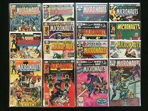 MICRONAUTS Lot of 15 Marvel Comic Books - #2 3 9 11 19 26 33 35-38 50 51 59 A1!