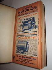 DEALER'S 1934 GRAINGER'S MOTOR CATALOG - MASSIVE BOOK BOUND WITH 9 CATALOGS