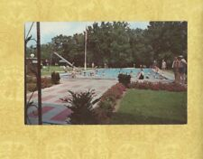 NY Greenville 1960s  postcard BAUMANNS BROOKSIDE CATSKILLS NY swimming pool