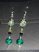 Handmade Drop Earrings With SP Hook Wire