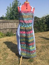 Unique Quirky Patchwork Dress Fits 10 —18 Corseted Back