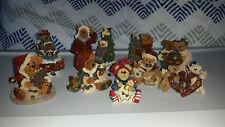 LOT OF 9 BOYDS BEAR CHRISTMAS FIGURINE BEARSTONES AND ORNAMENTS