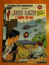 Jess Long Police Spéciale Tome 16 l'année du Rat par Piroton. éditions Dupuis EO