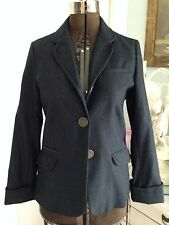 RARE Anthropologie Trovata M Fitzgilbert Reunion Wool Fitted Jacket NWOT CHIC!
