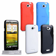 HTC One X Case: New S-Line Silicone Gel Patterned Case and Free Screen Protector