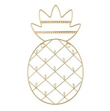 Gold Pineapple Wall Mounted Jewellery Tree Holder Wire Hanger by Sass & Belle