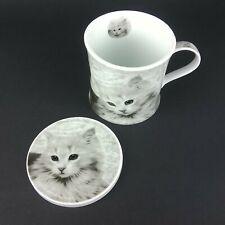 Kitten Cat Mug & Coaster / Cover Oscar Bromley Black & White Coffee / Tea
