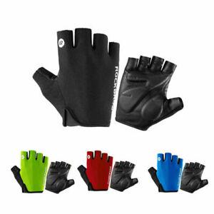 ROCKBROS Bicycle Gloves Half Finger Bike Gloves Shockproof Breathable Glove BG