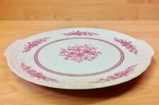 """Hutschenreuther """"Pink Bouquet"""" Pattern Tab Handle Cake Plate."""