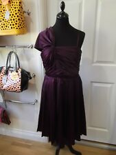 TRINNY & SUSANNAH Dress Silky Cadbury Purple Evening Occasion Wear UK Size 12