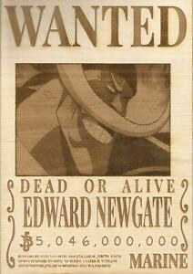 One Piece - White Beard (Edward Newgate) Wooden Wanted Poster