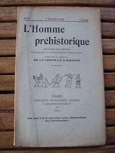 L'HOMME PREHISTORIQUE 1910 n°12 épées et haches de bronze d'Epinal ...