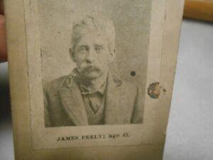 Vintage Police Department Mug Shot Photo Card Early 1900s Info on Back #3