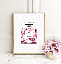 Chanel in Bloom A4 print - fashion, glamour, abstract, floral