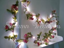 Warm 2m 20 LED Fake Flower String Fairy Lights Christmas Wedding Home Decor UK