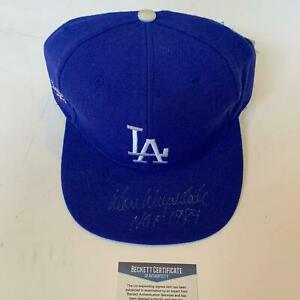 Rare Don Drysdale Hall Of Fame 1984 Signed Los Angeles Dodgers Hat Beckett COA