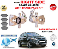 FOR FORD KUGA Mk I 2008->2012 REAR AXLE RIGHT BRAKE CALIPER WITH brake PADS SET