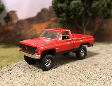 1973 Chevy K10 4x4 Truck Lifted 1/64 Diecast Custom Farm Square Body M2