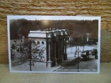Old postcard - Marble arch - Hyde Park London - real photo card - Automobile car