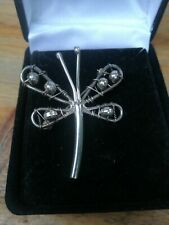 Solid Silver Butterfly Art Brooch Amazing Design