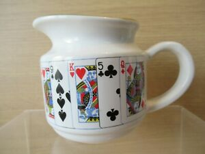 VGC Collectable Poker Playing Cards Design China / Porcelain Milk or Water Jug