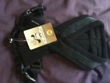 PADDED ADJUSTABLE DOG HARNESS - BLACK- SIZE S - BY KNUFFELWUFF - NEW WITH TAGS