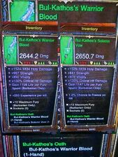 Diablo 3 PS4 ancienne Barbarian Ring arme ou Armour, Bul kathos's - skular's?