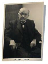 Max Planck Autogramm Karte mit Original Unterschrift