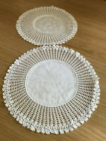Vintage cotton lace /crochet doily / mat