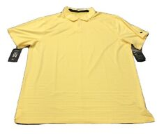Nike Tiger Woods Collection Dri-Fit Golf Shirt Polo (XL, Yellow, Stripe MSRP $90