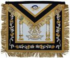 Hand MADE Bullion Past Master Embroidered Aprons Apron