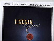 Lindner  SPM   les pages avec pochettes pour les timbres de  2015   neuf