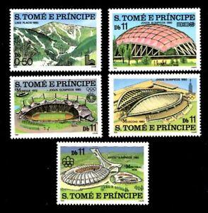 Olympic Sao Tome & Principe 1980 set of stamps Mi#632-36 MNH CV=13€
