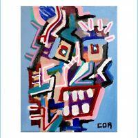 CORBELLIC ART, ORIGINAL PAINTING, GEORGE CONDO STYLE, fine art, EXPRESSION